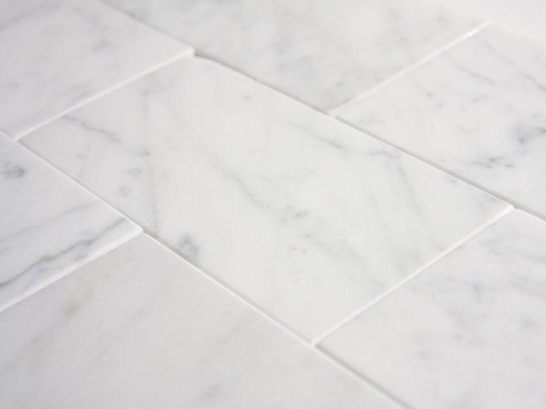 Italian White Cararra Polish 3X6 Stone Tile