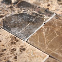 Dark Emperador Marble 3X6 X 6Mm Polish Tile 1