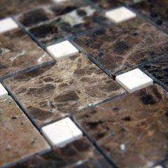 Dark Emperador Offset Pattern Floor  Pattern Stone Tile 1