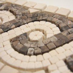 Crema Marfil And Dark Emperador 6 X 12 Mosaic Liner 1
