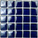 Cobalt Blue Crytsal Glass Tile 1X1 Polish
