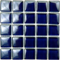 Cobalt Blue Crytsal Glass Tile 1X1 Polish 1