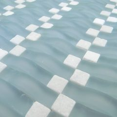 Frost Blue Wavy Glass Mosaic 1