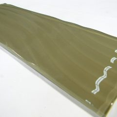 Large Format  4 X 11 3/4 Sepia Wavy Glass 1