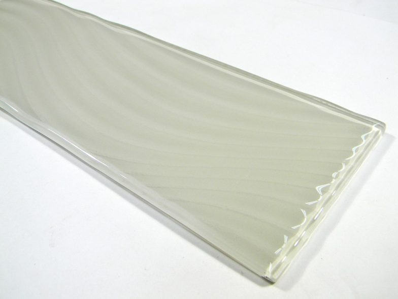 Large Format 4 X  11 3/4 Rocky Wavy Glass