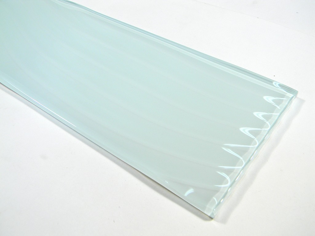 Large Format 4 X 11 3 4 Blanche Wavy Glass Sold Per Tile