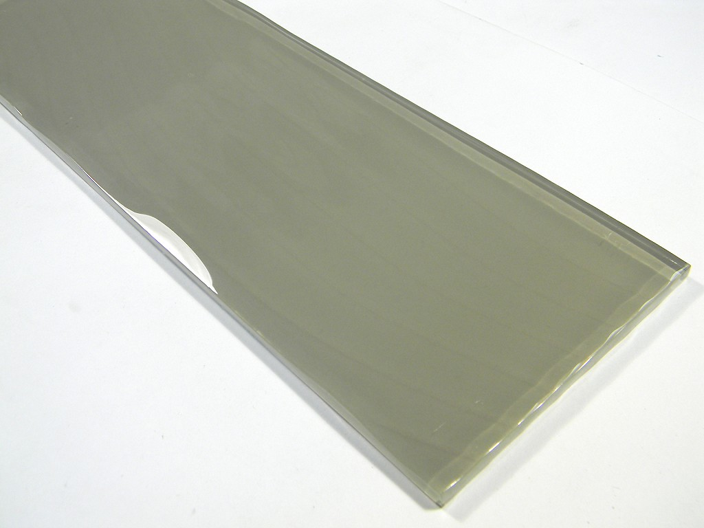 Large format 4 x 11 3 4 tawny wavy glass 1 glass tile home for Large format glass tile