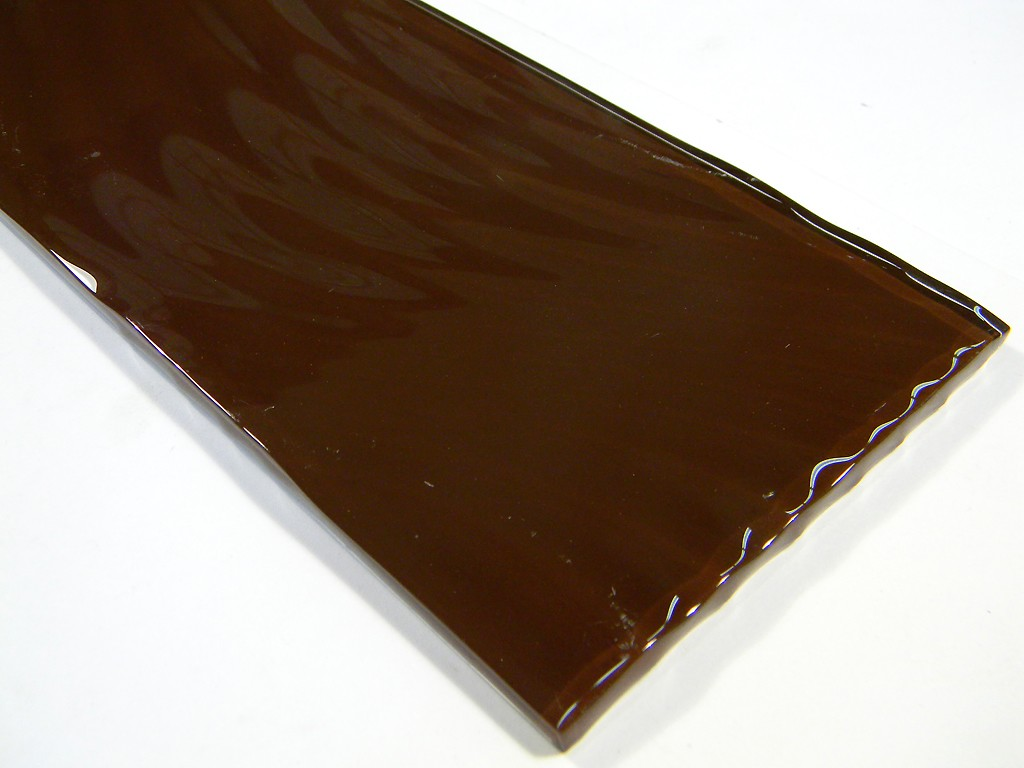 Large Format Cola 4 X 11 3/4 Crystal  Wavy Glass