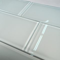 Snow Glass 3X6 Subway Tile 1