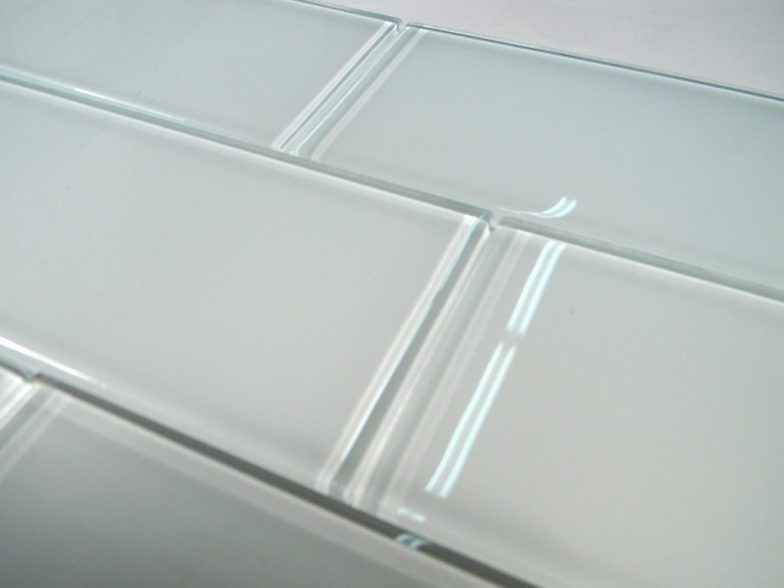 Snow Glass 3X6 Subway Tile