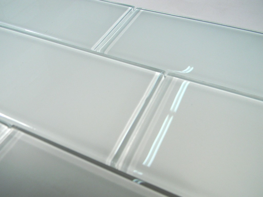 Snow Glass 3x6 Subway Tile Glass Tile Home