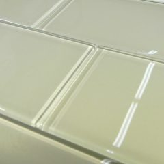 Creme Glass 3X6 Subway Tile 1