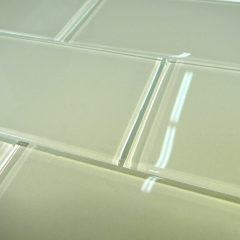 Celery Glass  3X6 Polish Subway Tile 1