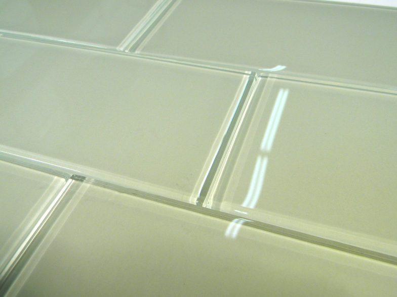 Celery Glass  3X6 Polish Subway Tile
