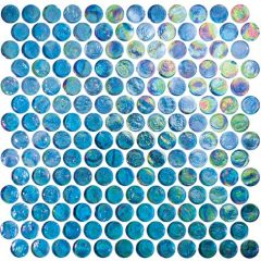 Excalibur 1X1 Penny Round Glass Tile 1