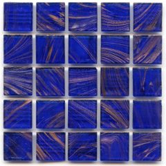 Gold Links Gl 042 Cobalt Blue Glass Tile 1