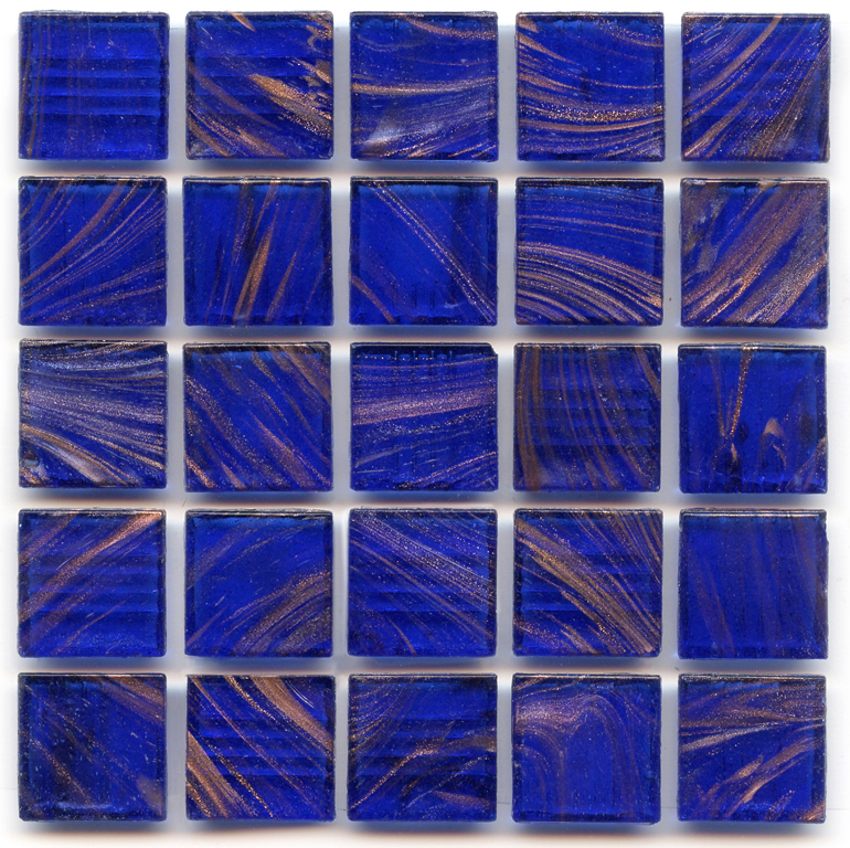 Gold Links Gl 042 Cobalt Blue Glass Tile