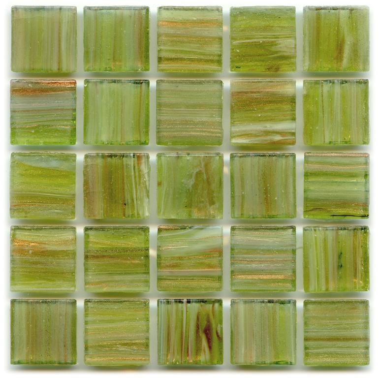 Gold Links Gl 050 Lima Green Polish Glass Tile
