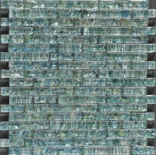 Ocean Pearl Abalone Random Brick Glass Tile