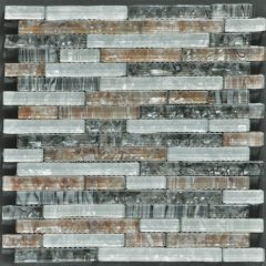 Ocean Pearl Blend -1 Crystal Glass Tile Interlock Tile 1