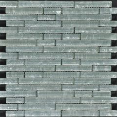 Ocean Pearl  White  Random Brick Glass Tile 1