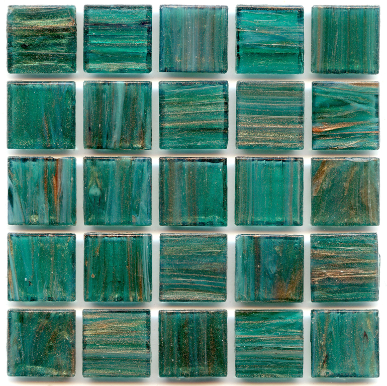 Gold Links Gl 001 Teal 4 Mm Glass Tile