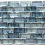 Mirabelle Collection Glass Tile Teal Blue Brick Pattern