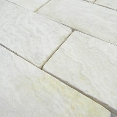Ivory Travertine Tumbled 3X6 X 8Mm Wall/Floor Tile 1