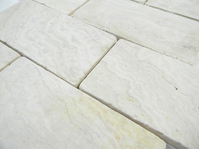 Ivory Travertine Tumbled 3X6 X 8Mm Wall/Floor Tile