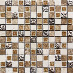 Serene Mixed 1 X 1 Stone/Glass/Resin