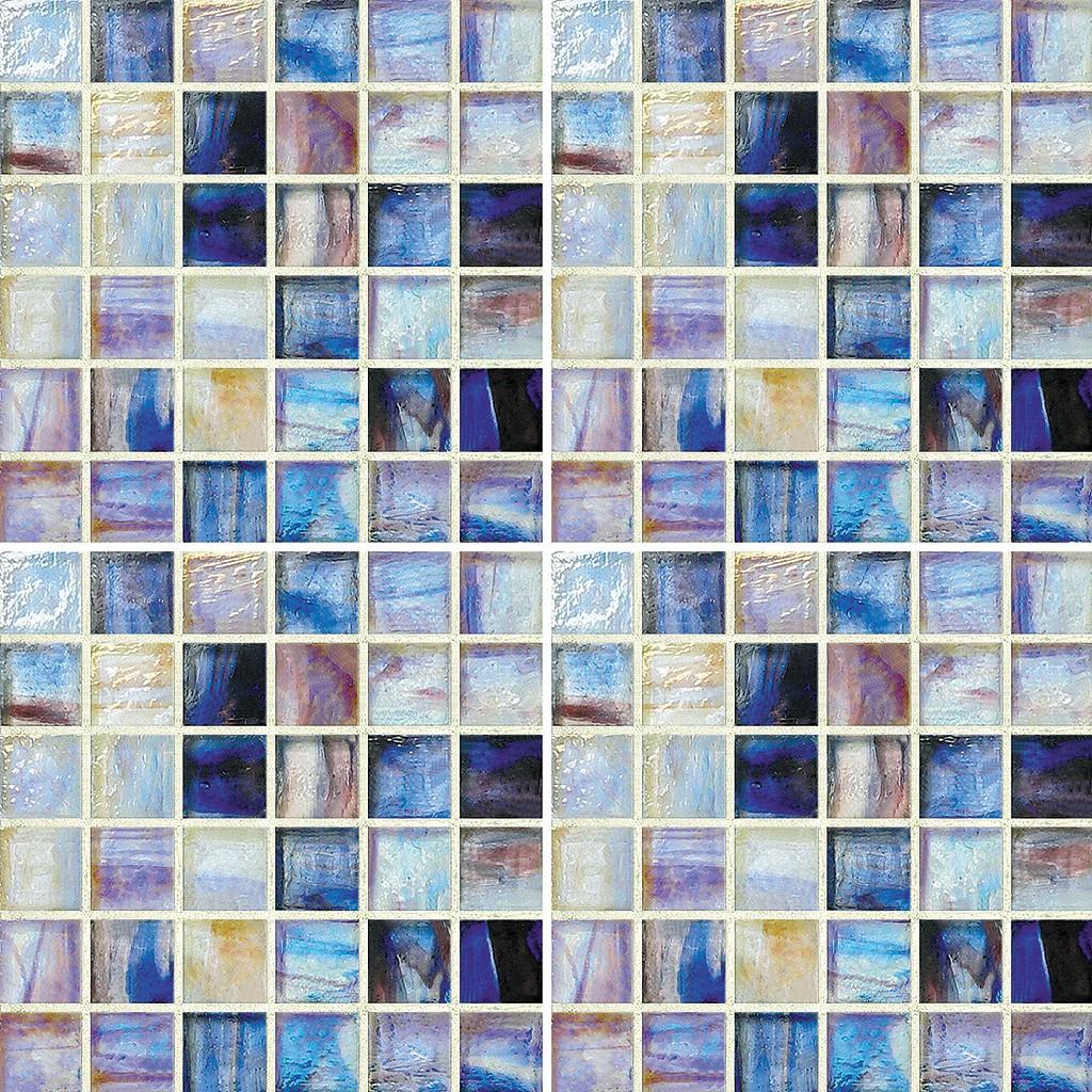 Lorraine Mixed 1 X 1 Mosaic Sheet Glass Tile Home