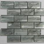 Nebula Silver 2X4 Metallic Glass Tile