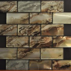 Nebula Dark Gold 2X4 Metallic Glass 1