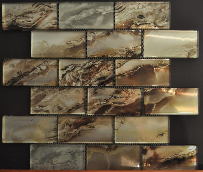 Nebula Dark Gold 2X4 Metallic Glass
