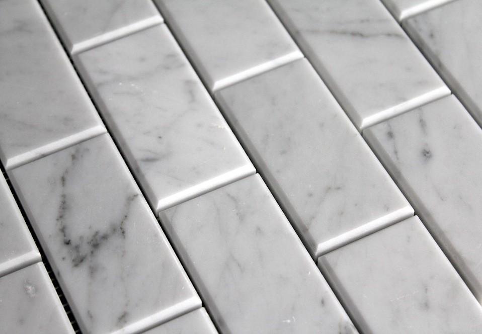 Carrara 3X6 Bevel Wall Tile