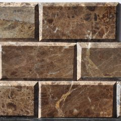 Dark Emperador 3X6 Polish Bevel Tile 1
