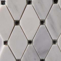 Abigail White Marble With Mirror Dot 1
