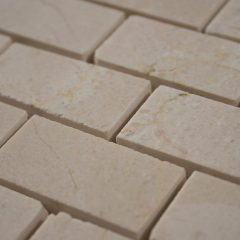 Crema Marfil Polished 1X2 Brick Pattern Stone Tile 1