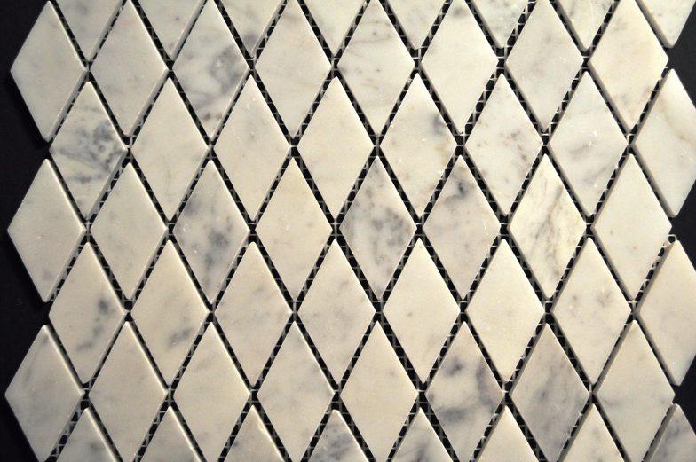 Cararra White Harlequin Tile