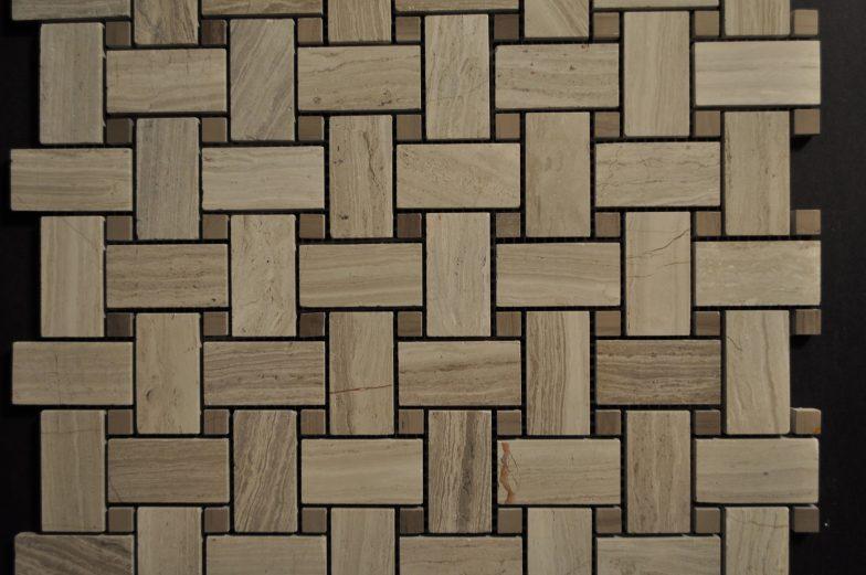 Wood Vein Small Basketweave Pattern