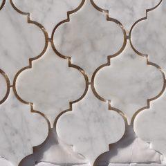 Lamplight Pattern In White Cararra
