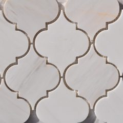 Lamplight Pattern In Star White Marble 1