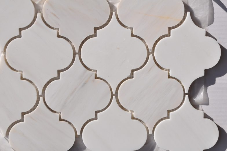 Lamplight Pattern In Star White Marble