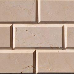 Crema Marfil 3X6 Bevel Tile 1