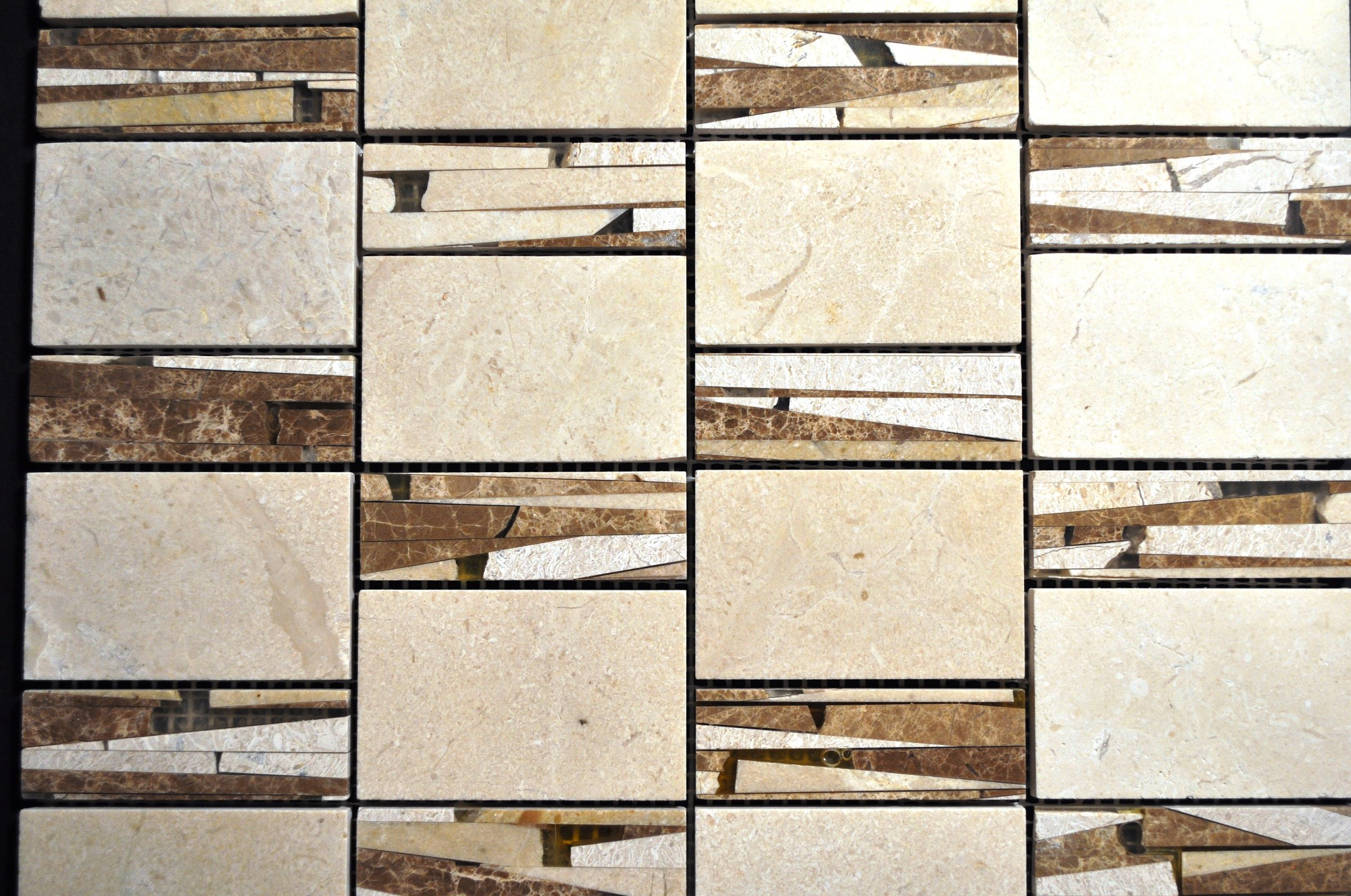 Sandi Pattern Crema Marfil And Light Emperador Marble And Resin