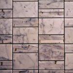 Sandi Pattern White Cararra Marble And Resin Tile