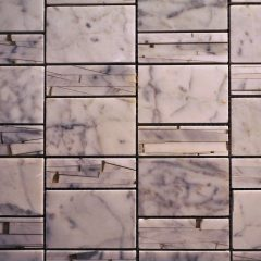 Sandi Pattern White Cararra Marble And Resin Tile 1