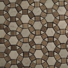 Sunflower Pattern Wood Vein And Cararra Marble