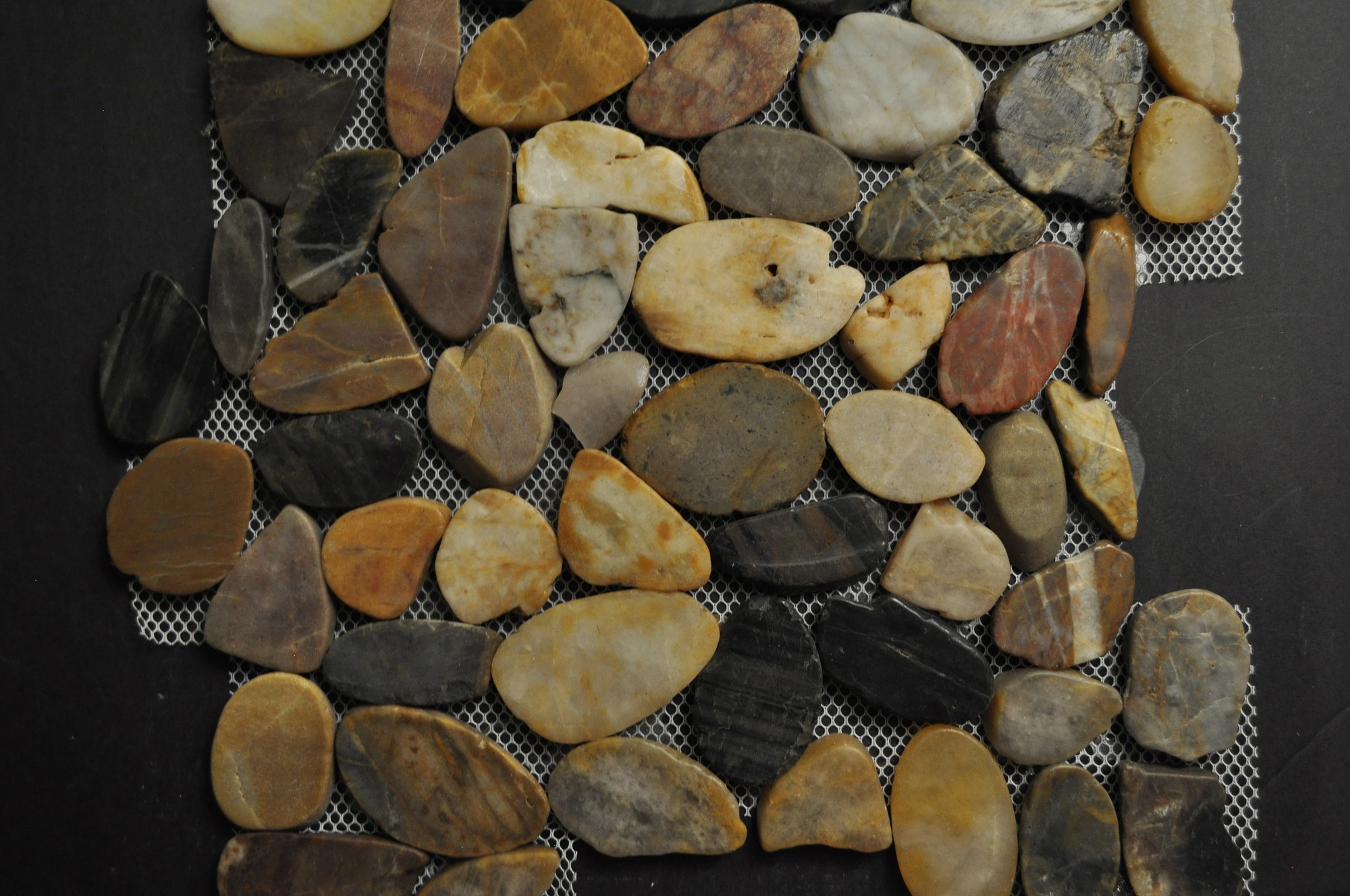 Tiger Eye Random Size And Color Pebbles Glass Tile Home