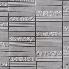 Cararra White Stacked Stone 1